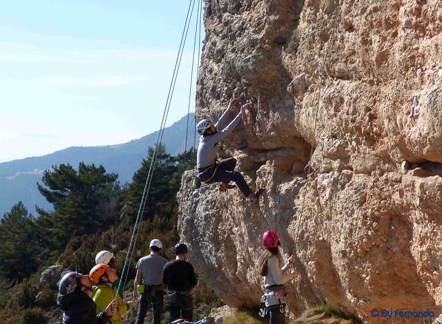 Escalador XY0225022017 - Monja Nunca Más, 6a - 01- Vall de lord, Sector Serra Creu del Codó, Subsector Freebloc (25-02-2017)