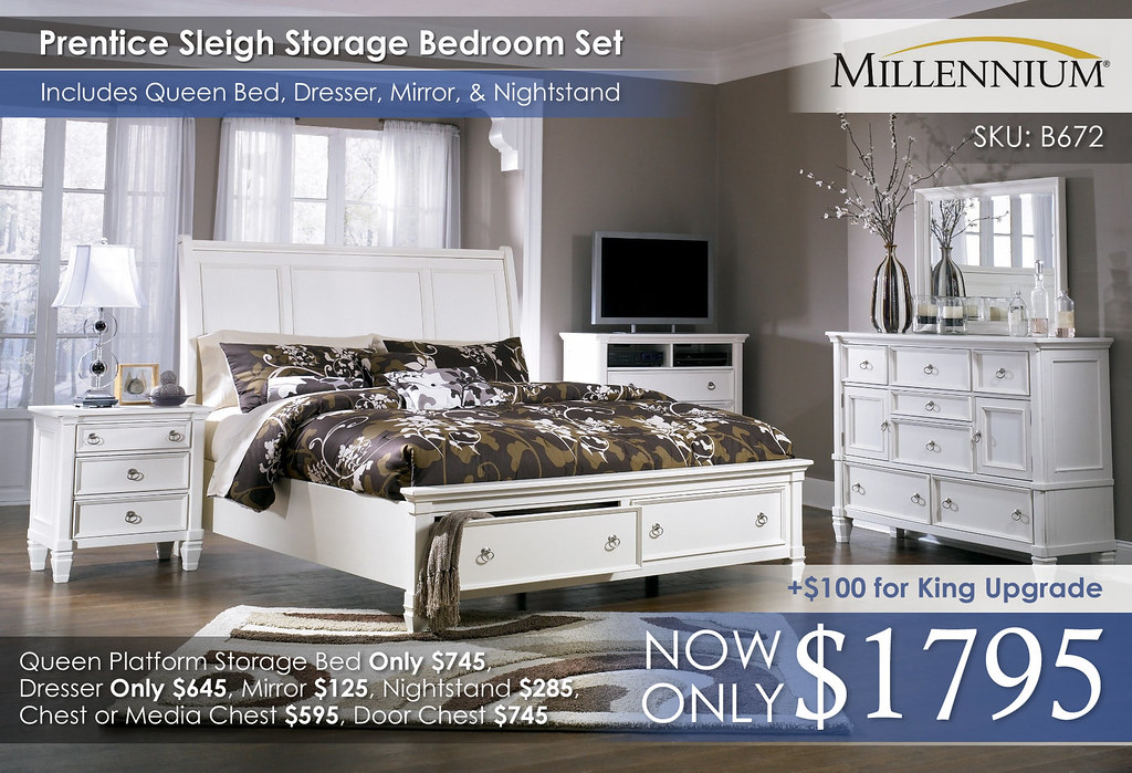 Prentice Sleigh Storage Bedroom B672 31 36 39 78 76