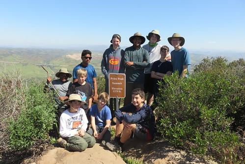 2017-04-01 Cowles Mt & Pyles Peak hike