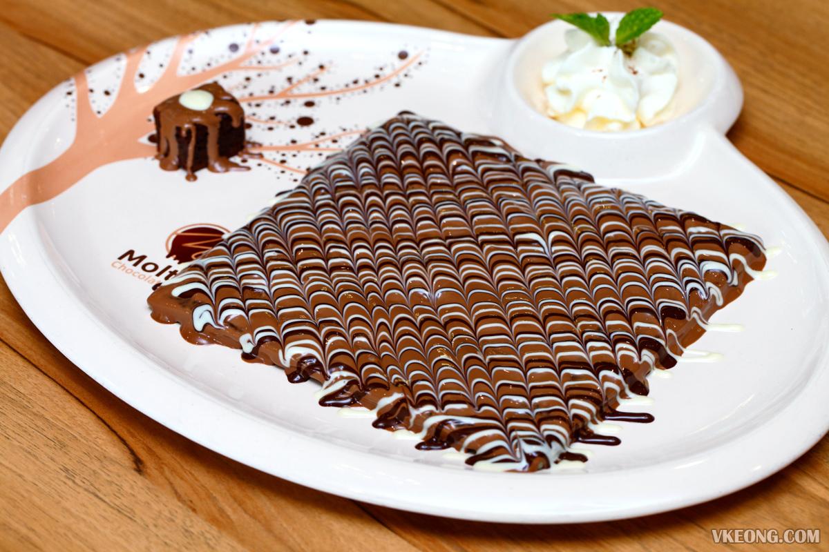Molten Brownies Crepe