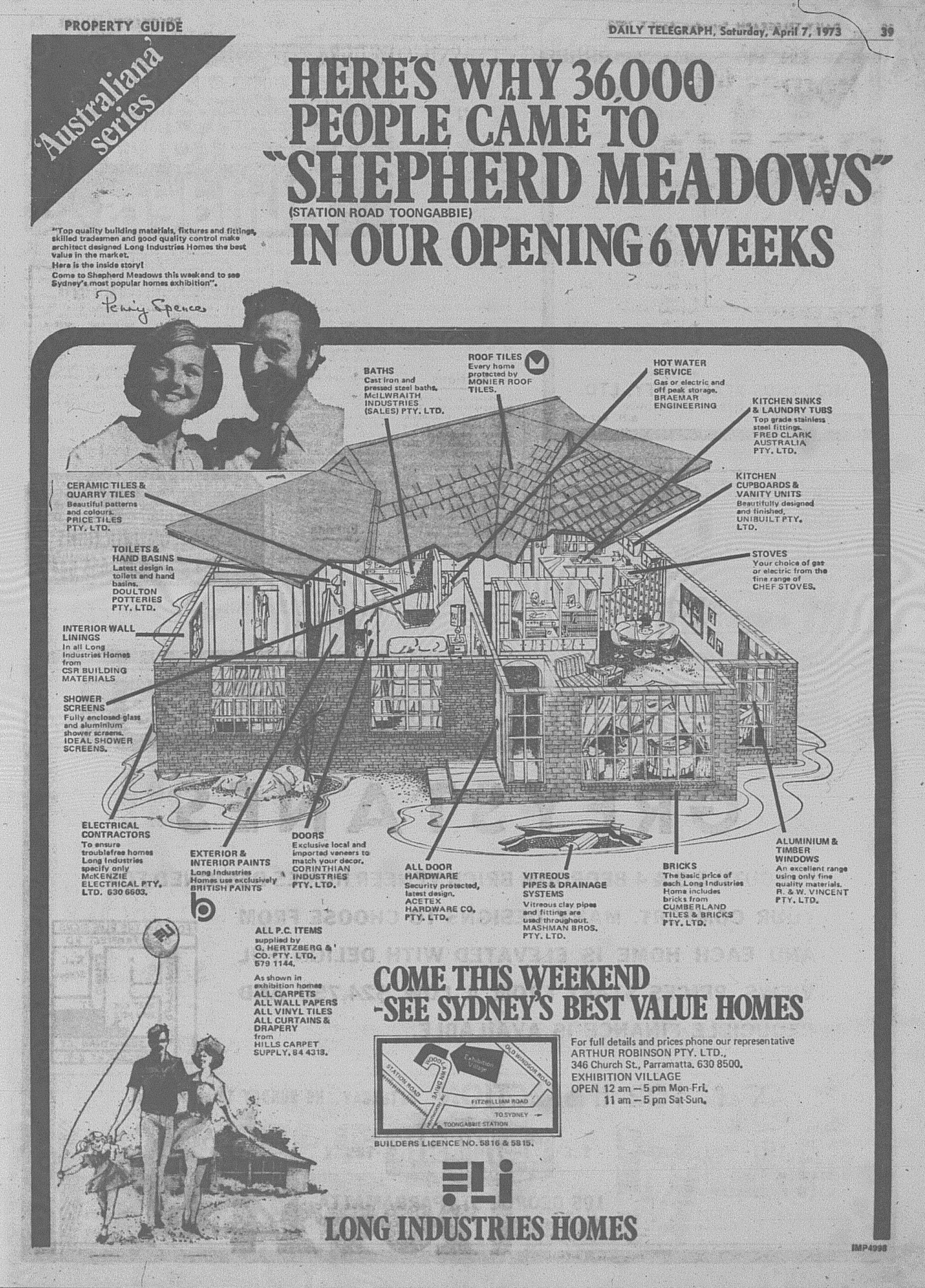 Long Industries Ad April  7 1973 daily telegraph 39