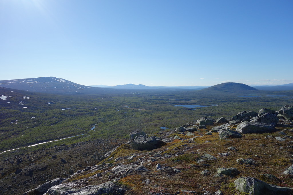 Awesome view over Grötån and Femundsmarka National Park in Norway