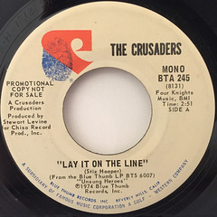 THE CRUSADERS:LAY IT ON THE LINE(LABEL SIDE-A)