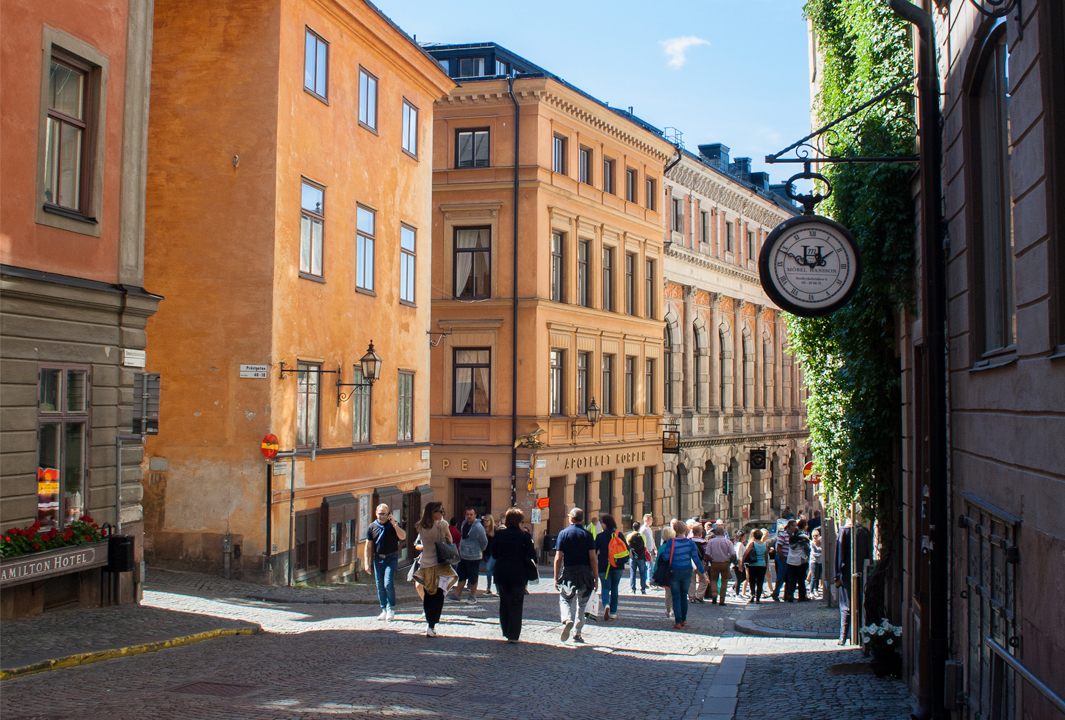 Walking through Gamla Stan, Stockholm old town