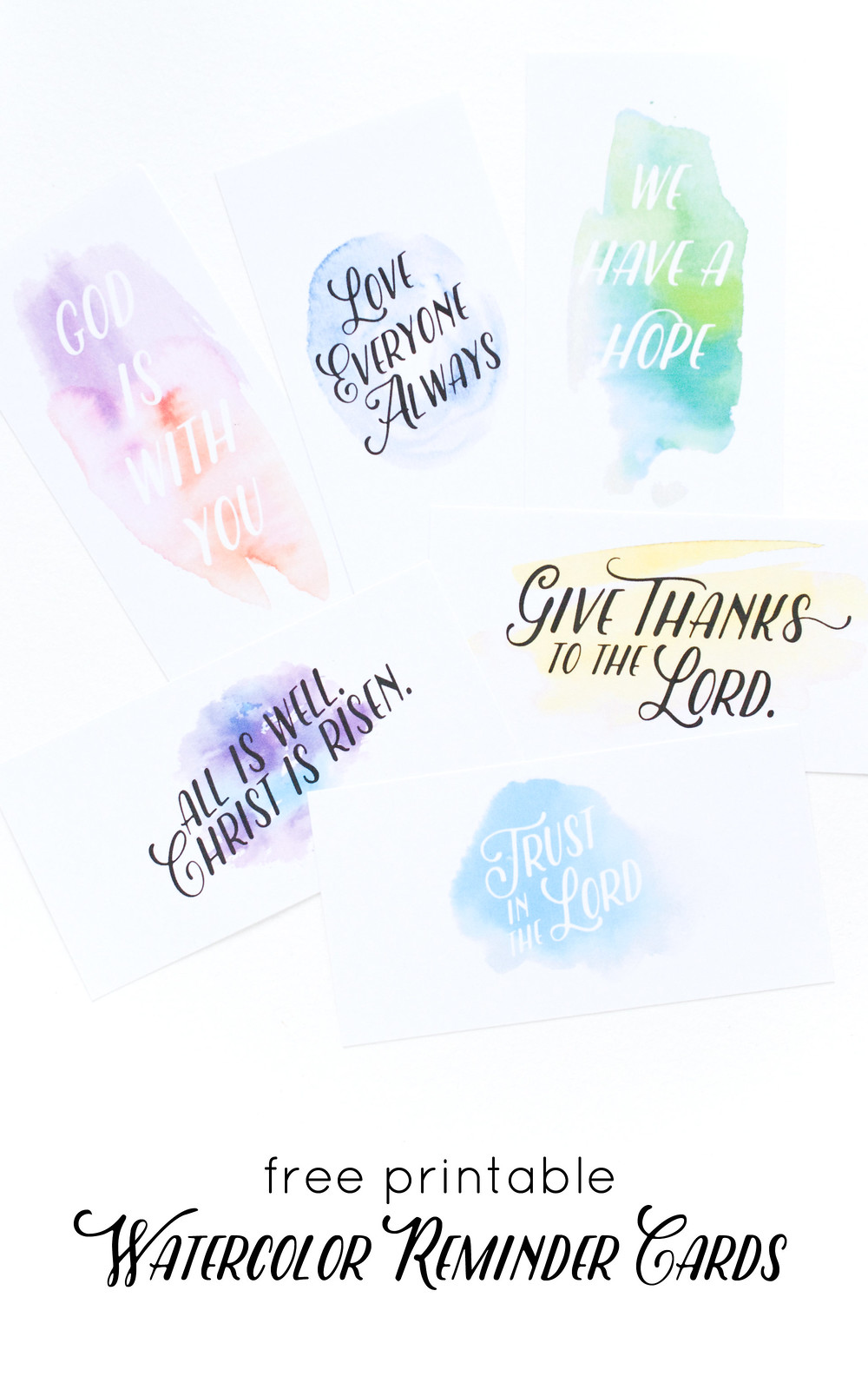 Printable Watercolor Reminders