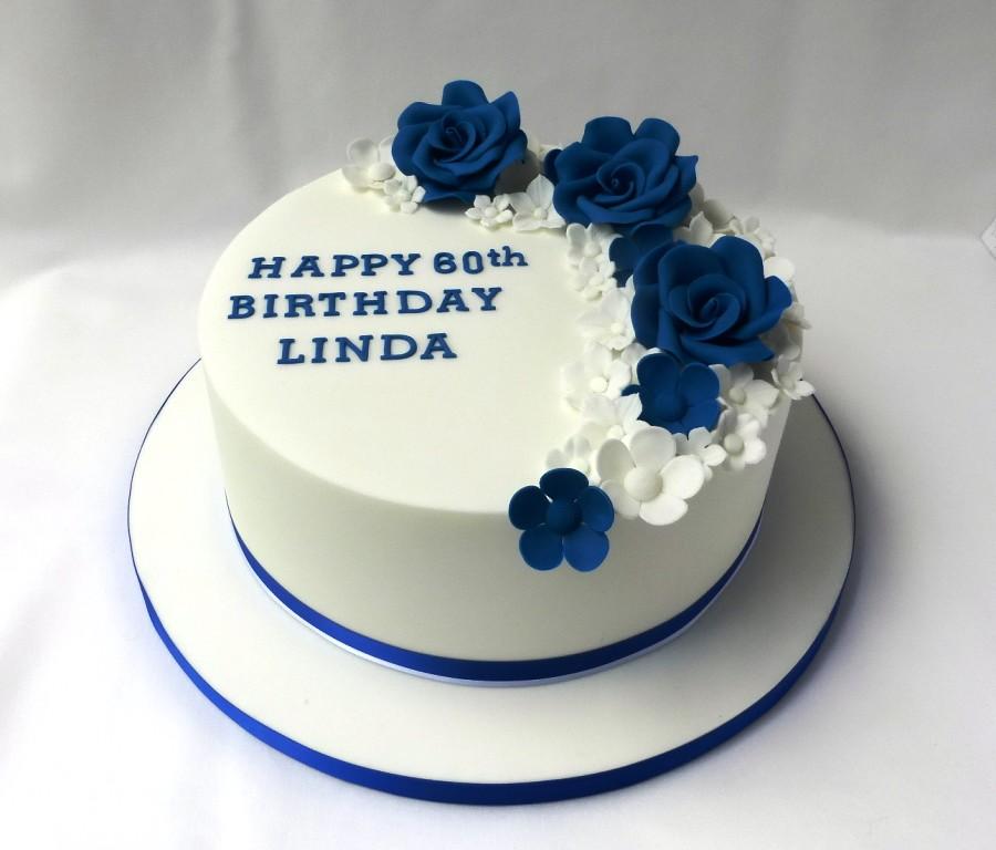 Royal Blue White Birthday Cake Welcometreats Flickr