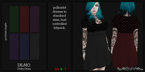 ~SongBird~ Dotty Dress | by ~SongBird~ In Second Life