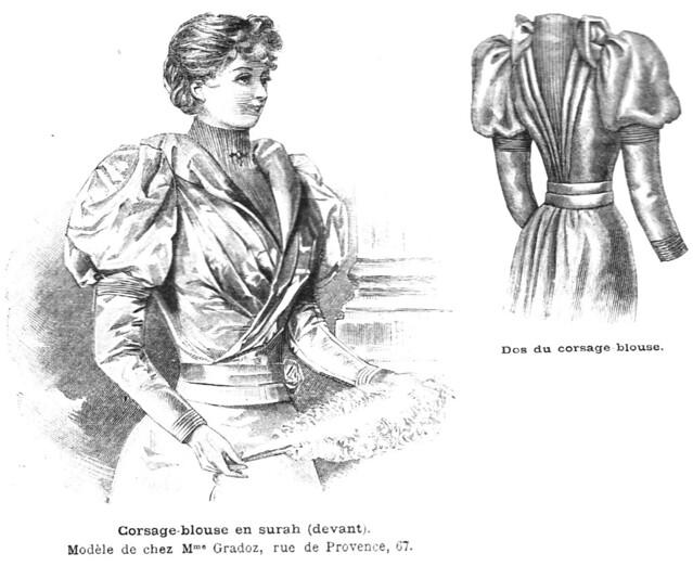 Corsage-blouse en surah