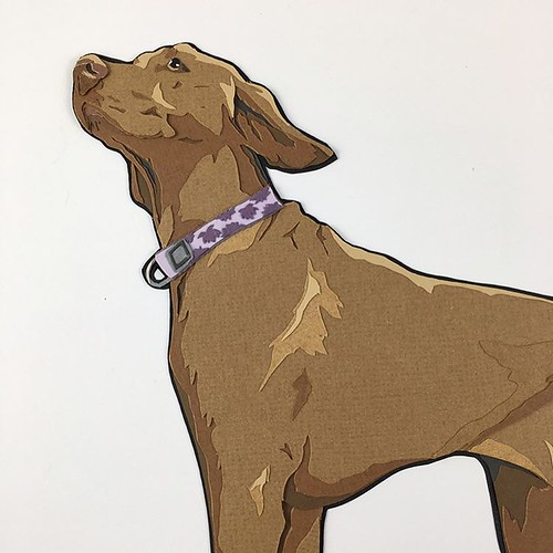 Custom Paper Pet Portrait - Stella