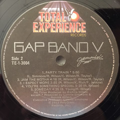 GAP BAND:GAP BAND V JAMMIN'(LABEL SIDE-B)