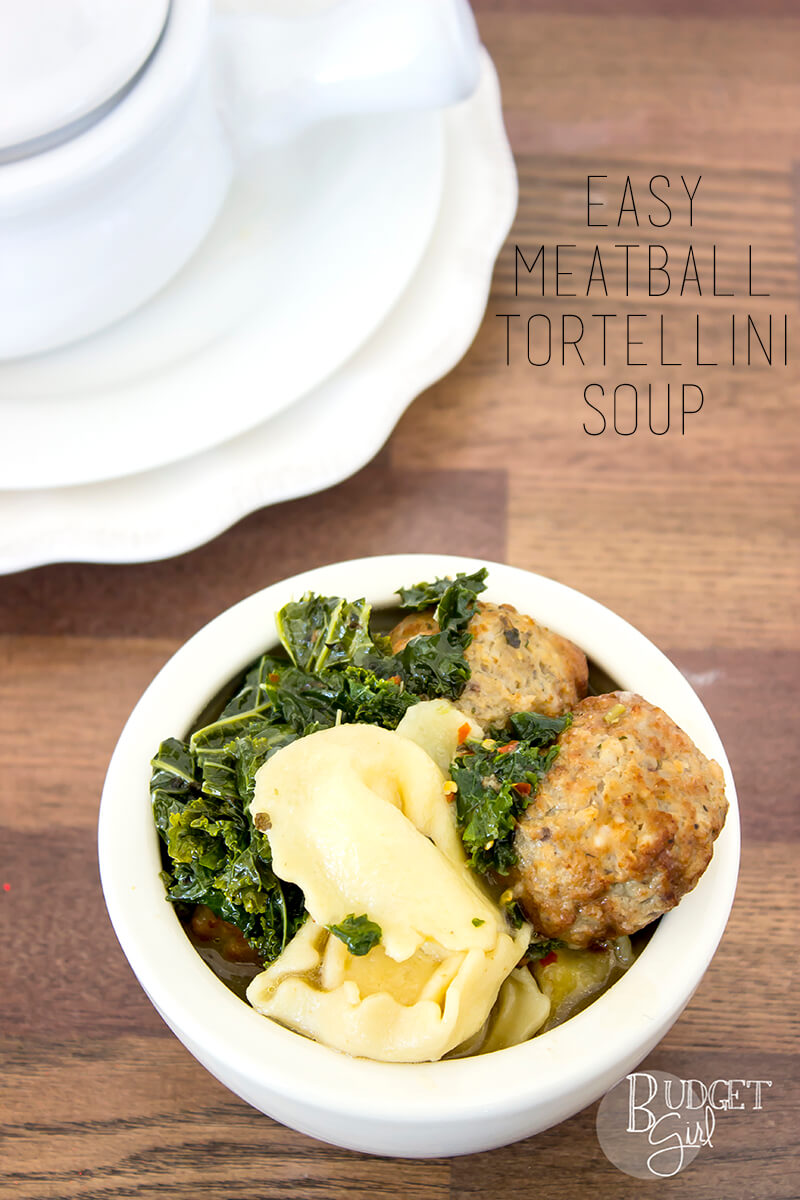 Easy Meatball Tortellini Soup