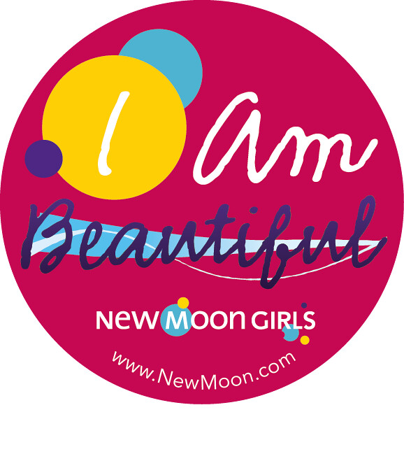 NMG I AM BEAUTIFUL Circle Sticker Template Copy