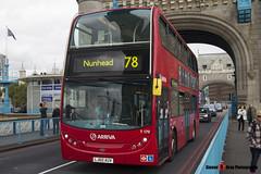 Alexander Dennis Trident Enviro 400 - LJ60 AUV - T170 - Arriva - Tower Bridge London - 140926 - Steven Gray - IMG_0078