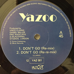 YAZOO:DON'T GO(LABEL SIDE-A)