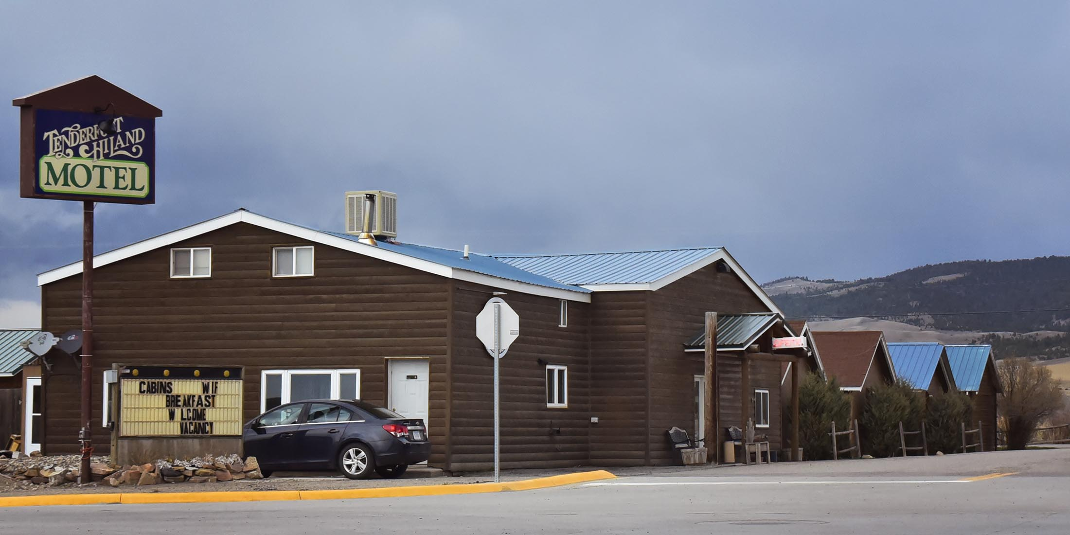 The Tenderfoot Hotel and Cabins in White Sulphur Springs on Highway 89 in Meagher County.
