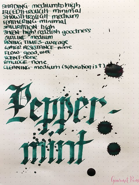Ink Shot Review: @RobertOsterInk Peppermint @NoteMakerTweets 7