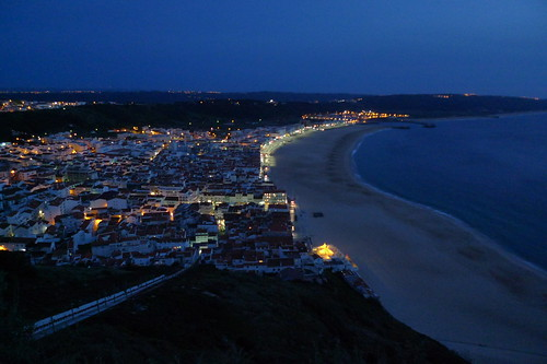 Night View - Nazare, Portugal