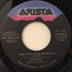 KASHIF:ARE YOU THE WOMAN(LABEL SIDE-A)