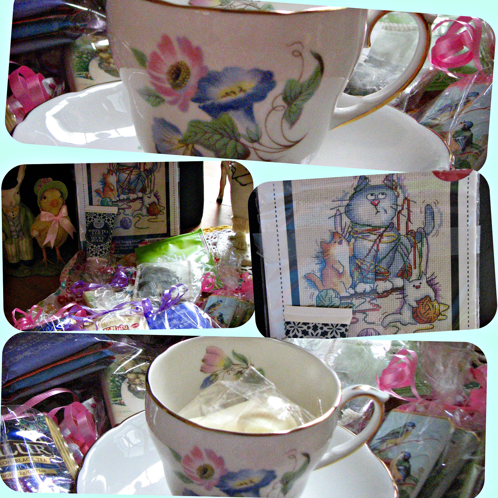 tea cup collage