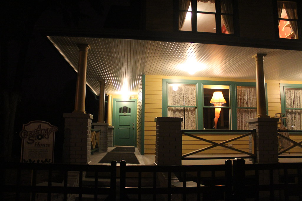 christmas story house at night cleveland oh by danxoneil