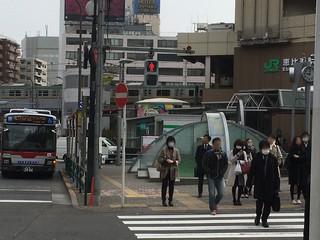 恵比寿駅前の噴水ゾーン