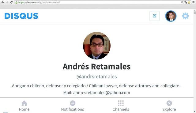 Abogado Andrés Retamales en Disqus