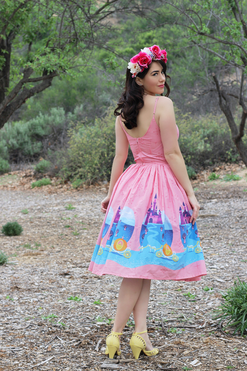 Vintage Inspired by Jackie Atomic Jax Ella Dress in Cinderella Print