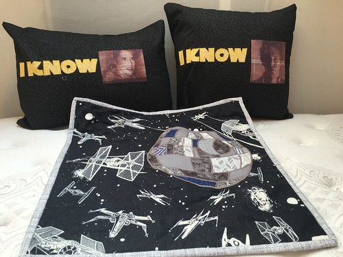 Star Wars Pillows and Death Star Wall Hanging | by hopers