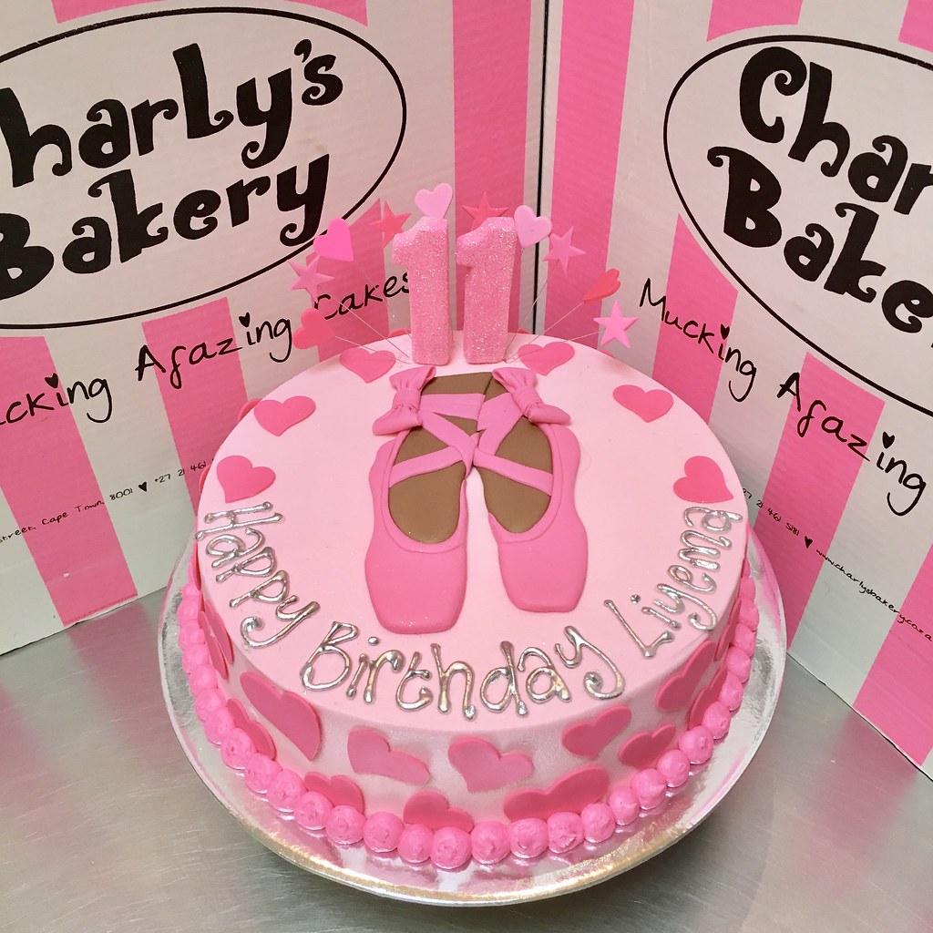 Ballet Themed Single Tier Birthday Cake Iced In Pastel Pin Flickr