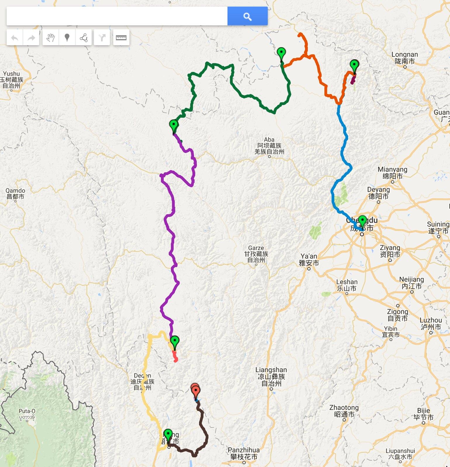 2016 Sichuan Map