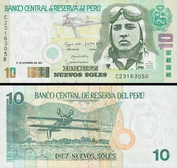 10 Nuevos Soles Peru 2001, P175