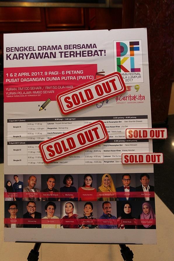 Tiket Bengkel DFKL 2017 laris pada awal pagi pertama