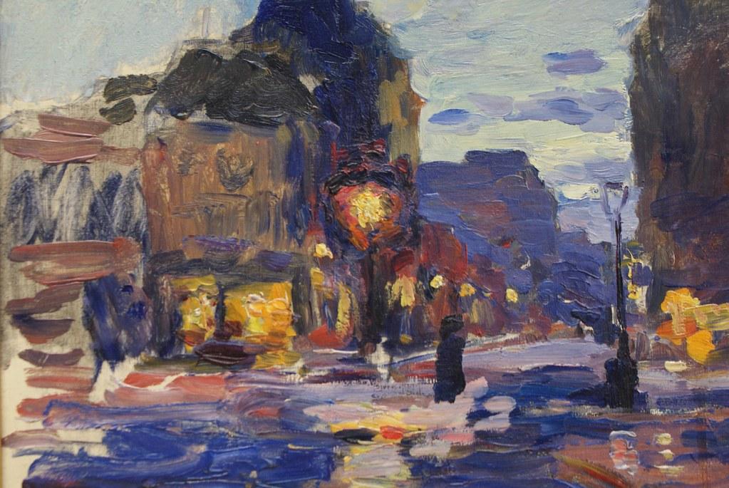 """Ludwik de Laveaux """"Ulica paryska"""" (1884) au musée d'art du 19e à Cracovie."""