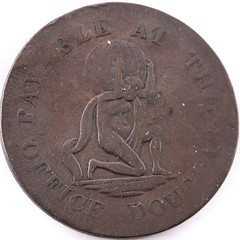 1811 Isle of Man Manks One Penny Token obverse