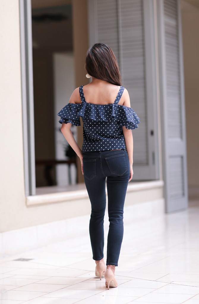 petite short dark blue denim ankle jeans review