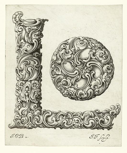 012-Letra L-Libellus Novus Elementorum Latinorum -J. C. Bierpfaff-  Rijksmuseum