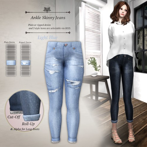 Ankle Skinny Jeans Light Blue (LB Prize)