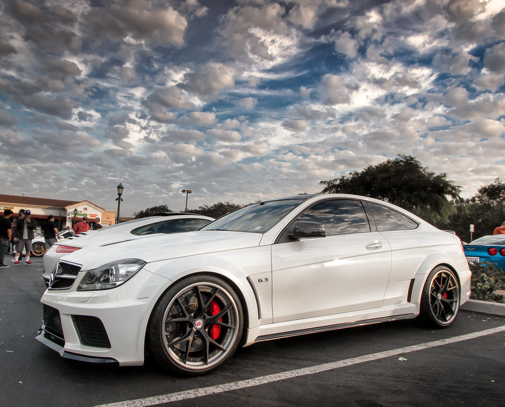 Amg C63 On Hre Wheels Take At Carlsbad Cars And Coffee In Flickr
