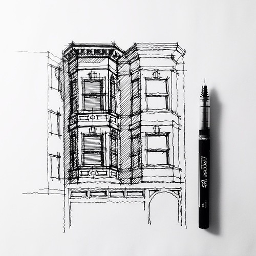 Twins. Bay windows. #sanfrancisco #sketch #drawing #archit… | Flickr