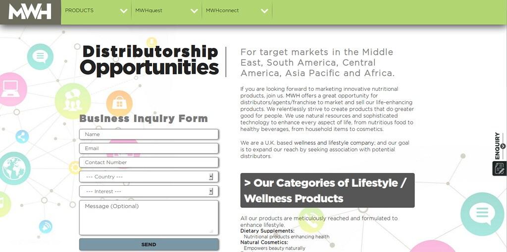 Distributorship Opportunities   My Wish Hub Limited (MWH), L