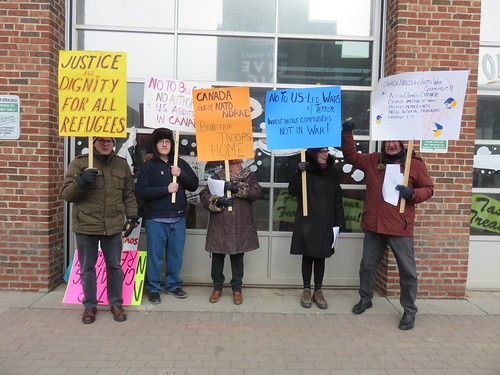 ECAWAR Info Picket: Feb. 25, 2017