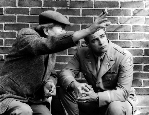 Reflections in a Golden Eye - backstage - John Huston and Marlon Brando