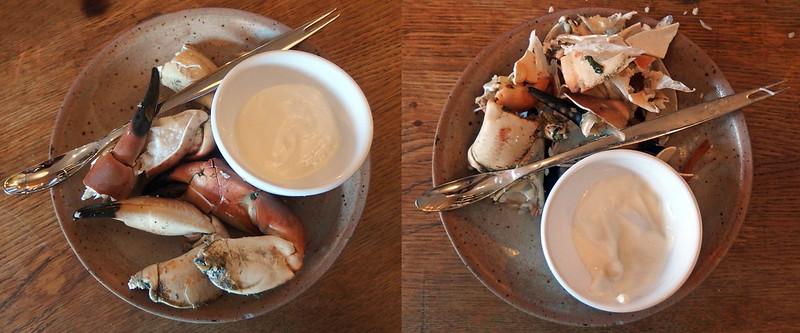 Koude krab scharen met mayonaise