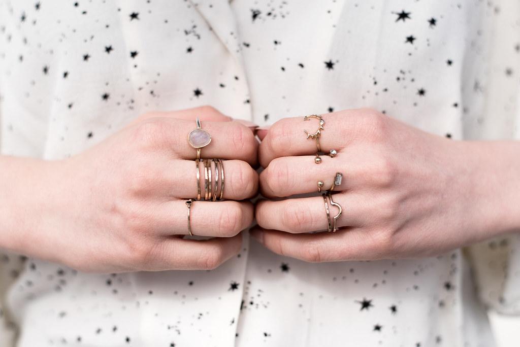 Layered on Gold Rings on juliettelaura.blogspot.com