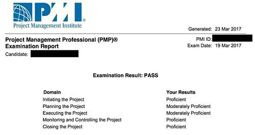 PMP Examination Report