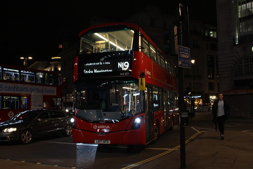 N19 back to Arriva London