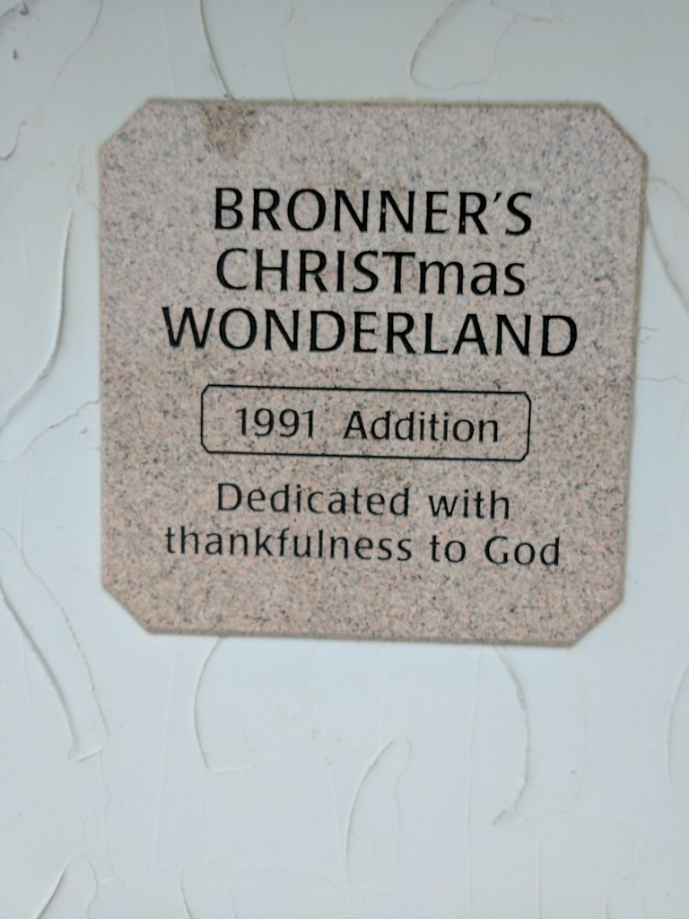 Dedicated To God Sign Bonners Christmas Store Frankenmuth Michigan USA