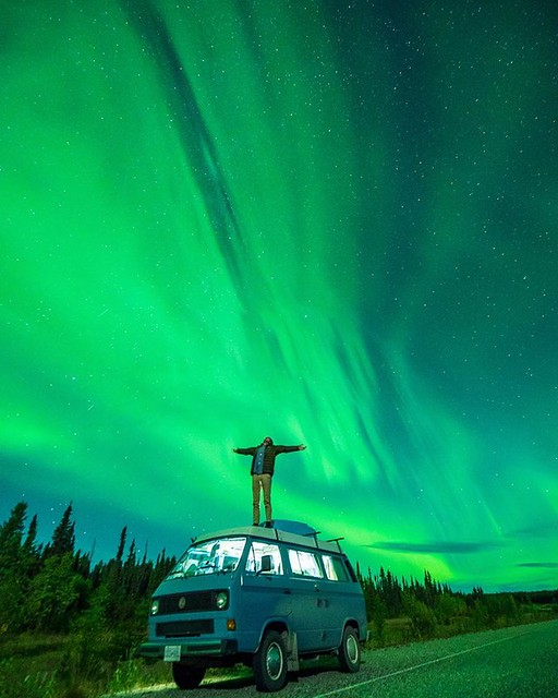 #adventure , Under the grand Aurora sky 🌍 | Northern British Columbia |  Braedin Toth
