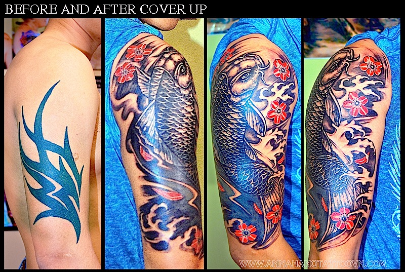 Cover Up Koi Fish Tattoo Annahangtattoovncom Flickr