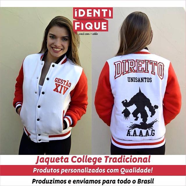 8f3a3322c0 Jaqueta College - Atlética Direito UNISANTOS Crie você também o modelo da  sua galera!